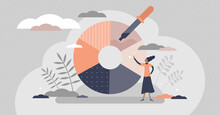 Color Picker For Designers Paint And Ink Selection Flat Tiny Person Concept