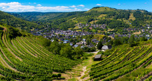 Beautiful Aveyron Village In France With Freen Grapes- Marcillac Vallon