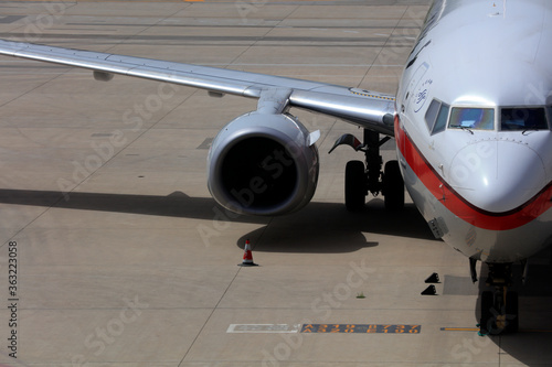 Fototapety, obrazy: Small passenger aircraft on the apron