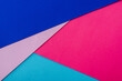 Leinwanddruck Bild - abstract geometric background with pink, blue and violet paper