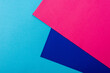 Leinwanddruck Bild - abstract geometric background with pink, blue paper