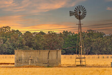 Windmills Have Successfully Pumped Water In The Australian Outback Into Troughs For Their Stock.