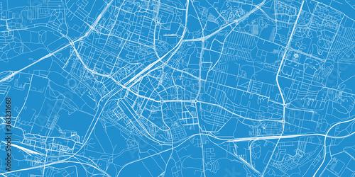 Fotografía Urban vector city map of Sosnowiec, Poland