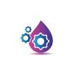 Oil and gas logo vector icon