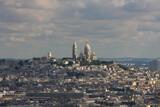 Fototapeta Fototapety Paryż - Francja , Paryż , sierpień 2015 , widok z wieży Eiffla na bazylikę Sacre-Coeur