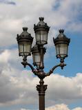 Fototapeta Fototapety Paryż - Francja , Paryż , sierpień 2015 , stara latarnia uliczna