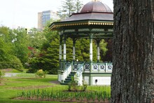 Beautiful Ornate Gazebo In A Public Garden In Halifax, Nova Scotia
