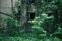 Old Abandoned House In A Circl...