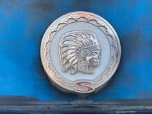 "Old ""Jeep Cherokee"" Medallion"