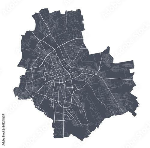 Fotografia Warsaw map