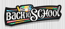 Vector Banner For School, Dark...