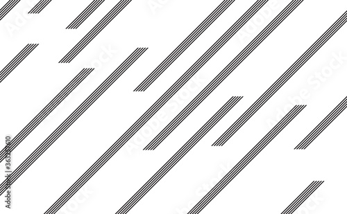 Creative lines pattern abstract background Canvas Print