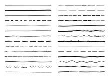 Black Lines Hand Drawn Vector ...