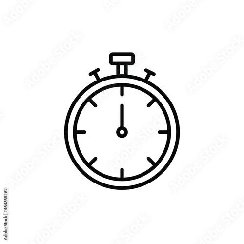 Stopwatch Icon Vector Logo Template Canvas Print