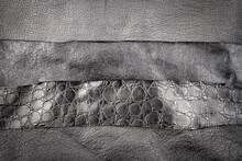 Black Leather And Fake Alligat...