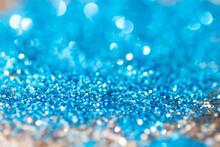 Full Frame Shot Of Blue Glitter