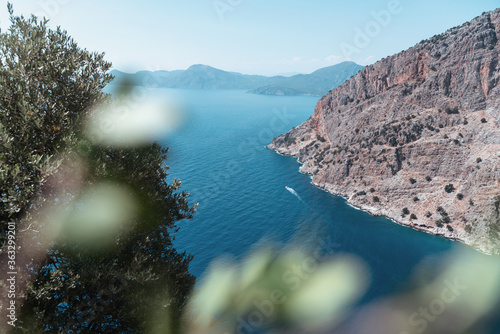 Fotografie, Obraz Oludeniz Butterfly Valley, stunning beautiful scenery, blue sea of pine and high