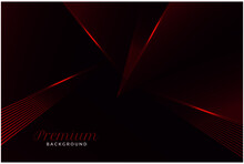 Abstract Premium Geometric Red...