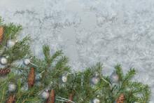 Winter Bright Background. Fir ...