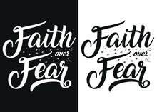 Faith Over Fear-Christian Cros...