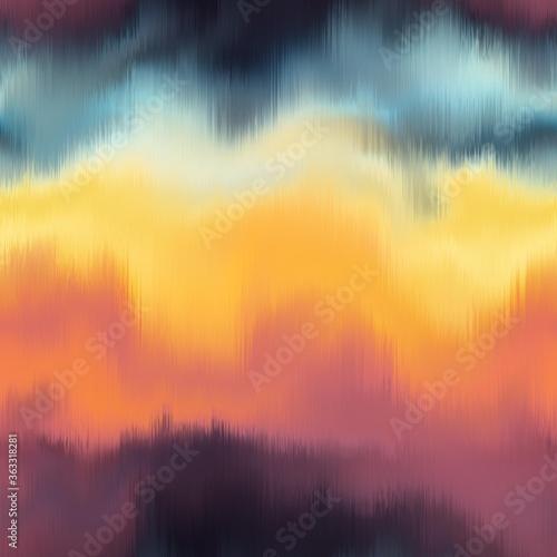 Tablou Canvas Vivid degrade blur ombre radiant surreal blurry saturated digital wavy ocean water seamless repeat raster jpg pattern swatch