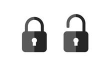 Lock Unlock Vector Icon. Conce...