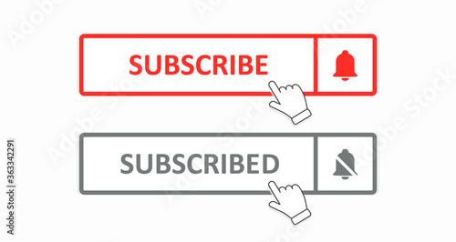 Obraz na plátne Subscribe button