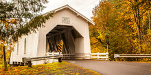 Hoffman Covered Bridge With Fa...