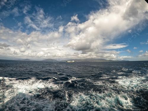 Fotografie, Obraz Open sea / Atlantic ocean. Vessel mowing on the waves.