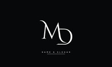 MD,DM ,M ,D  Abstract Letters Logo Monogram