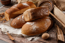 Different Kinds Of Fresh Bread...