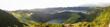 Leinwandbild Motiv Panoramic View Of Trees And Mountains Against Sky