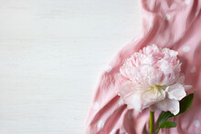 Pink Peony And Cotton Polka Do...