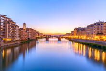 Ponte Vecchio At Sunset, Flore...