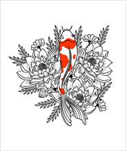 Beautiful Koi Fish With Pair G...