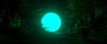 Glowing Green Screen Surrounde...