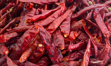 Dried Red Hot Chili Peppers In...