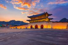 Sunset Over Gwanghwamun Gate, ...