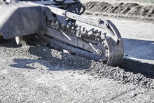 Close Up Of Trenching Chain