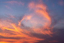 The Sky During The Sunset, Clo...