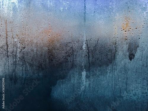 Canvas Full Frame Shot Of Wet Glass Window