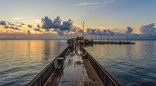 Sunset Over Mobile Bay On The ...
