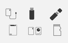 Storage Devices Vector Icon Ha...