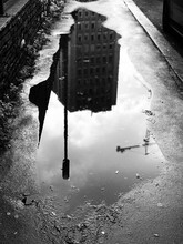Reflection Of Buildings In Pud...