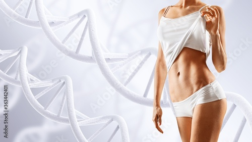 Cuadros en Lienzo Beautiful young sports slim woman body