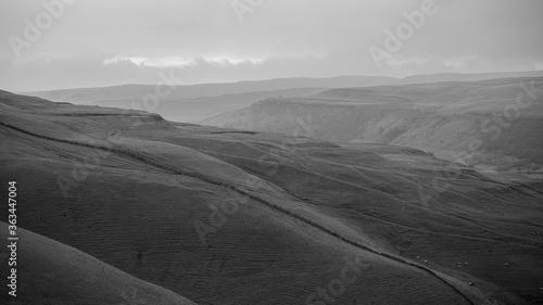 Fotografiet Scenic View Of Hillside