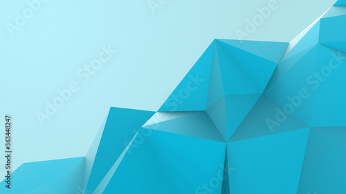 Azure abstract modern crystal background Canvas Print