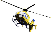 Modern Yellow Rescue Helicopte...