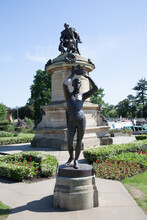 Prince Hal At The William Shakespeare Memorial At Bancroft Gardens In Stratford Upon Avon In Warwickshire In The UK