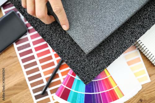 Obraz na plátně Rubber floor mats with color polyester